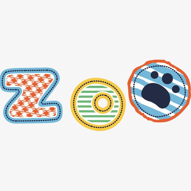 矢量图zoo动物园艺术字字体下载_艺术字图片素材下载