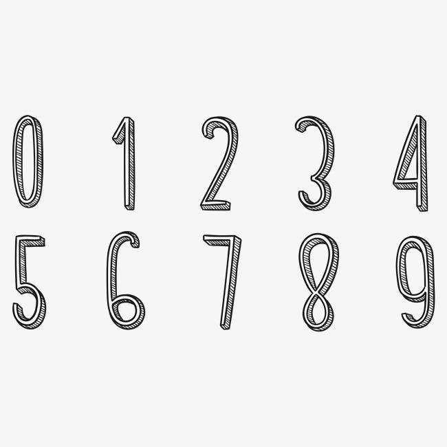 手绘线稿粉笔黑色创意艺术数字