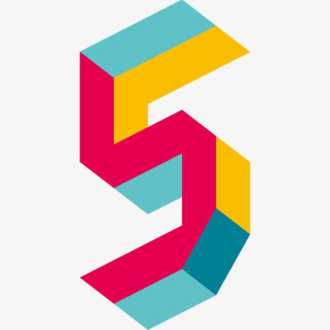 彩色3d字母s字体设计