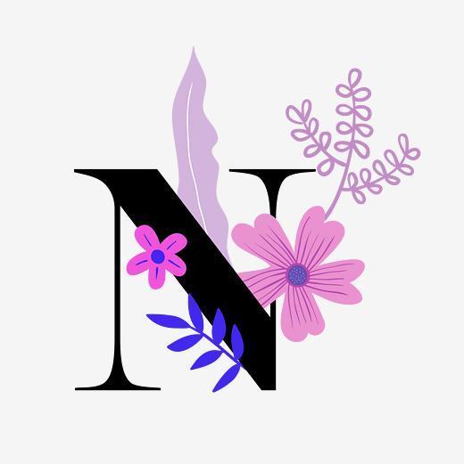 创意字母时尚n电商促销装饰