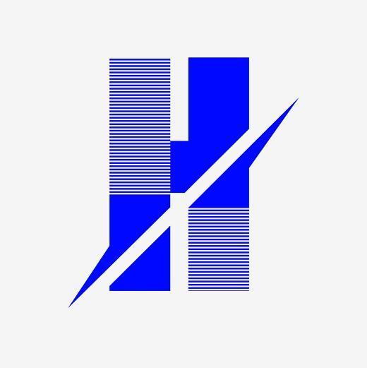 创意英文艺术字字母h图片